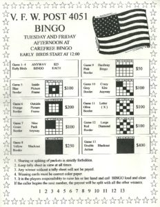 VFW - Early Bird @ Carefree Bingo | Colorado Springs | Colorado | United States